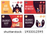 childrens bad dreams  fears and ... | Shutterstock .eps vector #1933312595