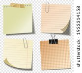 blank sticky notes with clip...   Shutterstock .eps vector #1933314158