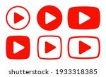 play button icon vector set | Shutterstock .eps vector #1933318385