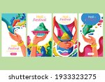 holi banner for the celebration.... | Shutterstock .eps vector #1933323275