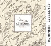 background with saffron flower... | Shutterstock .eps vector #1933337678