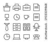 simple line icon for offices...   Shutterstock .eps vector #1933339868