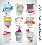 set of grey paper labels with... | Shutterstock .eps vector #193334225