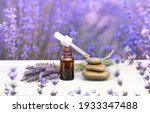 essential lavender oil in the...   Shutterstock . vector #1933347488