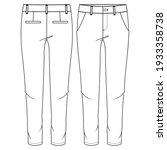 women chino pant fashion flat... | Shutterstock .eps vector #1933358738