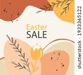 easter big sale. square... | Shutterstock . vector #1933365122