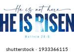 He Is Not Here He Is Risen  ...