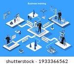 business training isometric web ... | Shutterstock .eps vector #1933366562