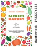 farmer's market poster template....   Shutterstock .eps vector #1933376855