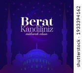 berat kandil is a islamic holy...   Shutterstock .eps vector #1933394162