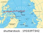 movement of north magnetic pole ...   Shutterstock .eps vector #1933397342