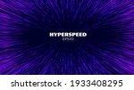 hyperspeed vector background.... | Shutterstock .eps vector #1933408295