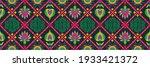 diagonal ikat stripes. zigzag...   Shutterstock .eps vector #1933421372