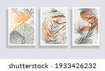 trendy set of watercolor... | Shutterstock .eps vector #1933426232