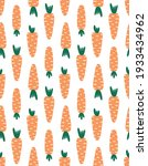 seamless pattern with carrots ... | Shutterstock .eps vector #1933434962