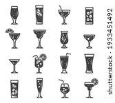 cocktails assortment bold black ... | Shutterstock .eps vector #1933451492