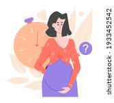 nice cute pregnant girl.... | Shutterstock .eps vector #1933452542