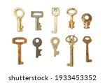 old skeleton keys isolated on...   Shutterstock . vector #1933453352