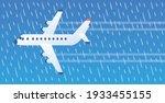 white jet passenger airplane...   Shutterstock .eps vector #1933455155