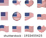 american flag. usa united... | Shutterstock .eps vector #1933455425