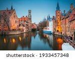 Bruges  Belgium Night Scene On...
