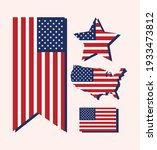usa flags country isolated icons | Shutterstock .eps vector #1933473812