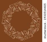 bread frame  illustration  ring ... | Shutterstock .eps vector #1933514405