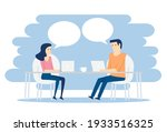 meeting and chatting on the... | Shutterstock .eps vector #1933516325