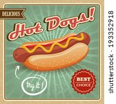 drawing hot dog delicious fast... | Shutterstock .eps vector #193352918