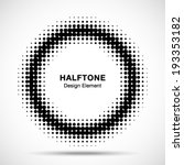black abstract halftone design... | Shutterstock .eps vector #193353182