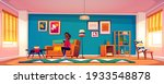 woman with smartphone sitting... | Shutterstock .eps vector #1933548878