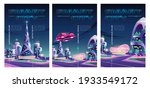 smart city posters with night...   Shutterstock .eps vector #1933549172