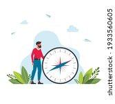 vector illustration of man is... | Shutterstock .eps vector #1933560605