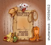 wild west wanted man for reward ... | Shutterstock .eps vector #193356512