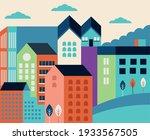 buildings facades minimal... | Shutterstock .eps vector #1933567505