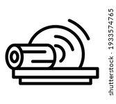 cutting wood machine icon.... | Shutterstock .eps vector #1933574765