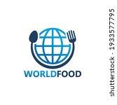 world food logo template design   Shutterstock .eps vector #1933577795