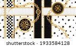 seamless pattern decorated with ... | Shutterstock .eps vector #1933584128