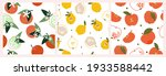 a set of artistic seamless... | Shutterstock .eps vector #1933588442