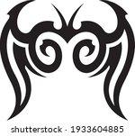vector symbol  ornament  tattoo.... | Shutterstock .eps vector #1933604885