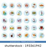 set of modern flat travel icons.... | Shutterstock .eps vector #193361942