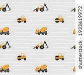 seamless pattern with yellow... | Shutterstock .eps vector #1933619972