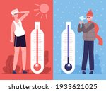 man in hot and cold weather.... | Shutterstock .eps vector #1933621025