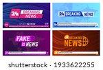 tv news banners. breaking news... | Shutterstock .eps vector #1933622255