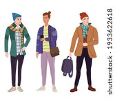 set young mans students in... | Shutterstock .eps vector #1933622618