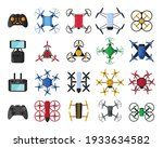 set of air drones and remote... | Shutterstock .eps vector #1933634582