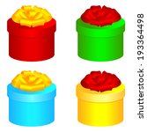 set of round gift boxes for...