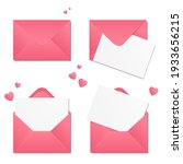 set of pink envelopes with...   Shutterstock .eps vector #1933656215