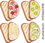 top view of bread with fruit... | Shutterstock .eps vector #1933662398