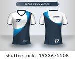 football jersey design template.... | Shutterstock .eps vector #1933675508